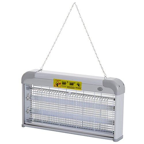Outsunny lampada anti-zanzare zanzariera elettrica potenza: 30w esterno interno 48.5 × 8.5 × 26.5cm