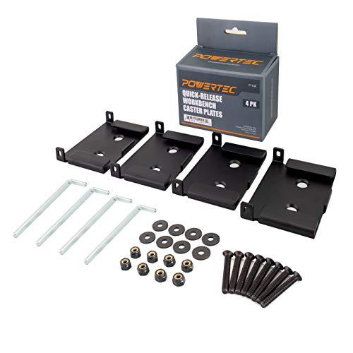 POWERTEC 71132. schnellverschlussbetätigung Werkbank Caster Teller, 4er Pack