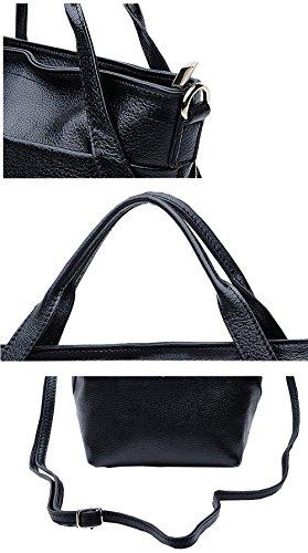 SAIERLONG Nuovo Donna Blu Royal Pelle Bovina Genuina Borse Tracolle Viola