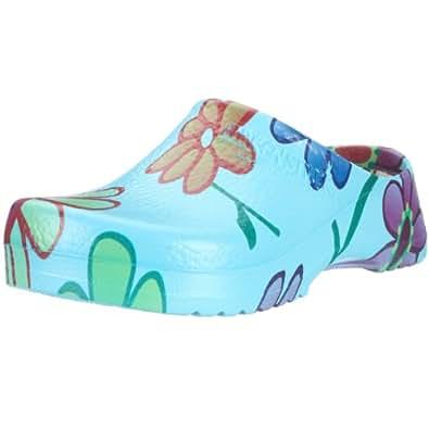 Birki SUPER BIRKI PU 68601, Chaussures femme - Bleu (Ciel Blue Flower), 41 EU