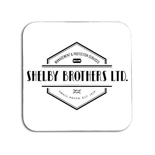 BigBazza Peaky Blinders Shelby Brothers Logo Company Gang TV Show Fan Geschenk Kaffee Tee Büro Küche Neuheit Tasse Untersetzer - Holz
