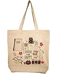 Rawbags 'Make Me Happy Bag ', Reusable 100% Cotton Eco-Friendly |ToteBag |Natural Colour|Eco Bag |Canvas Fabric