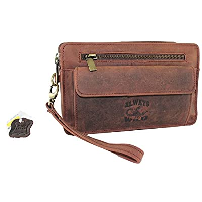 Men's Leather Wallet Wristlet Handbag Men's Bag Handbag Bag Multicolour - mens-carry-all-organiser-bags