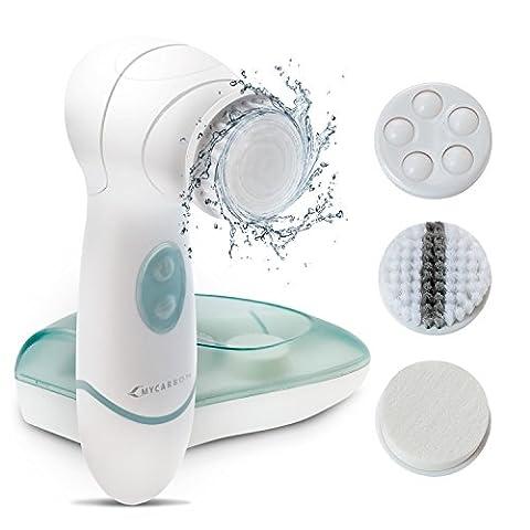 Facial Cleansing Brush MYCARBON IPX5 Waterproof Facial Exfoliating Brush Set