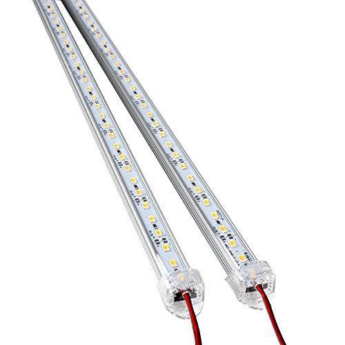 #WINOMO 2 Stück Aluminium Starre LED Streifen Stab Licht Wasserdichtes 12V 50CM (Warmes Weiß)#