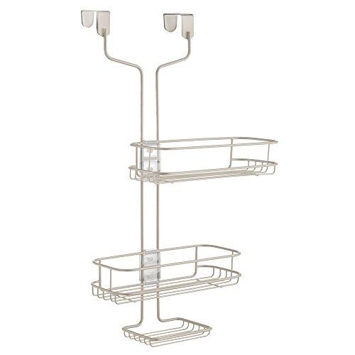 InterDesign Linea Badregal zum Hängen, verstellbare Duschablage aus Metall, mattsilberfarben