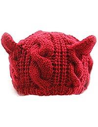 Viskey Strickmütze für Frauen, mit Katzenohren