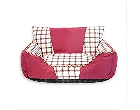 AnGe Dog Comfort Bed Ultimate Dog Bed & Lounge,Water resistant, Easy Clean , red