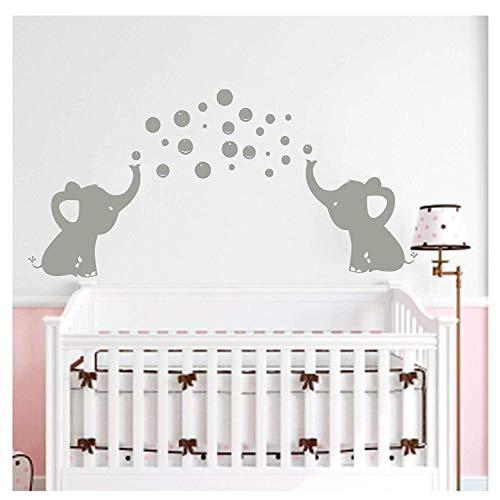 Dos elefantes soplar burbujas pegatinas de pared wall art decor de la...