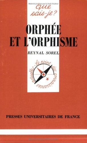 Orphée et l'Orphisme