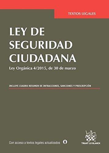 Ley de Seguridad Ciudadana (Textos Legales) por Ángela Coquillat Vicente