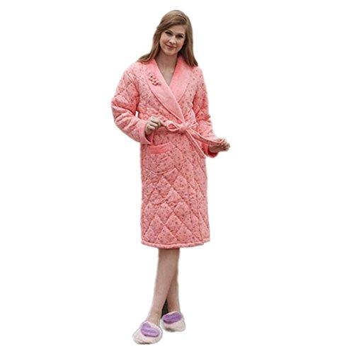 LIUDOU Camicia da notte di cotone spesso Robe autunno inverno
