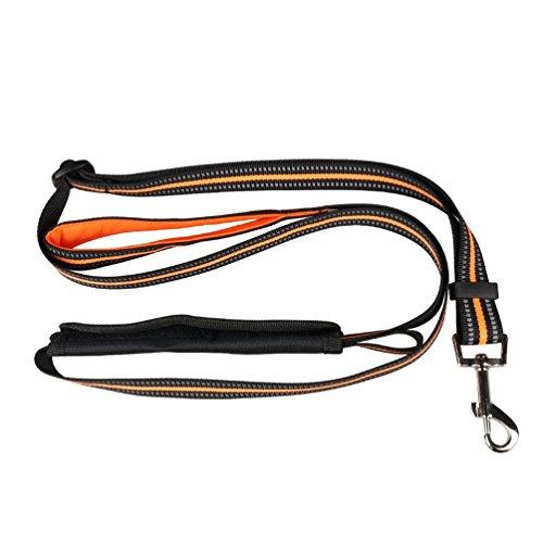 Yiiquanan Hochwertige Reflektierend Hundegeschirr Harness Weste für Mittlere/Große Hunde - Geschirr Verstellbar (Orange#2, Asia M)