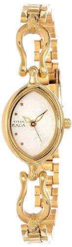 Titan Raga Analog Silver Dial Women's Watch - NE2370YM06