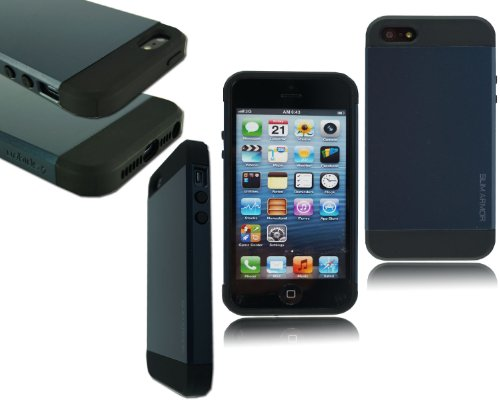 New Heavy Duty fin Armour Coque arrière rigide pour Apple I Phone 5 5S 5 C
