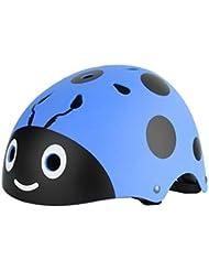 Hoomax Carino Coccinella Casco di Sicurezza Skateboard Pattinaggio Ciclismo Equilibrio Bike Sport Casco Protettivo per Esterno per Regalo Ragazza Ragazzo,Blu