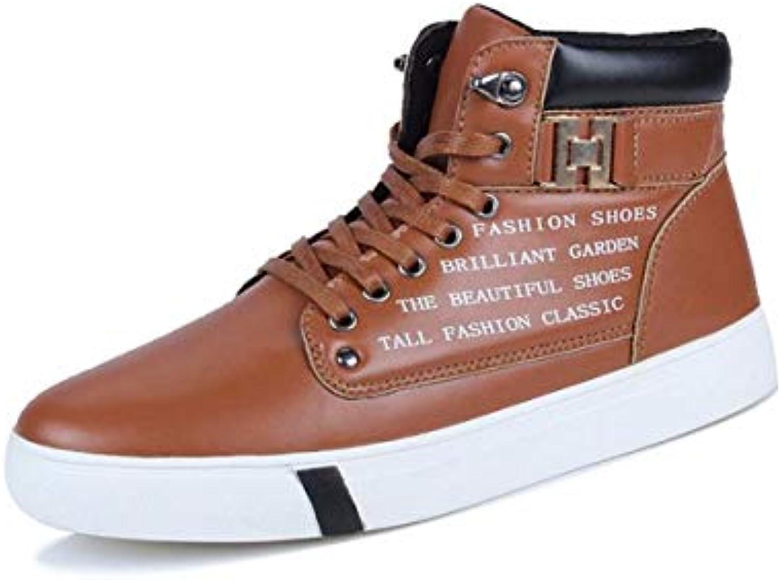 KMJBS Calzado de Hombre/Otoño Botas Zapatos Altos Deportes Ocio Skateboard Shoes Coreano Botas Y Martin Botas.Cuarenta  -