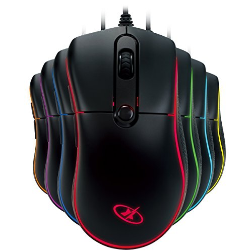 3a97cfbf38a Rosewill 6000Dpi Rgb Backlight Optical Wired Gaming Mouse (Neon M55?) Jp F/