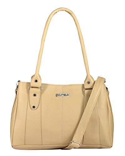 Fostelo Women's Lana Shoulder Bag Beige (FSB-797)