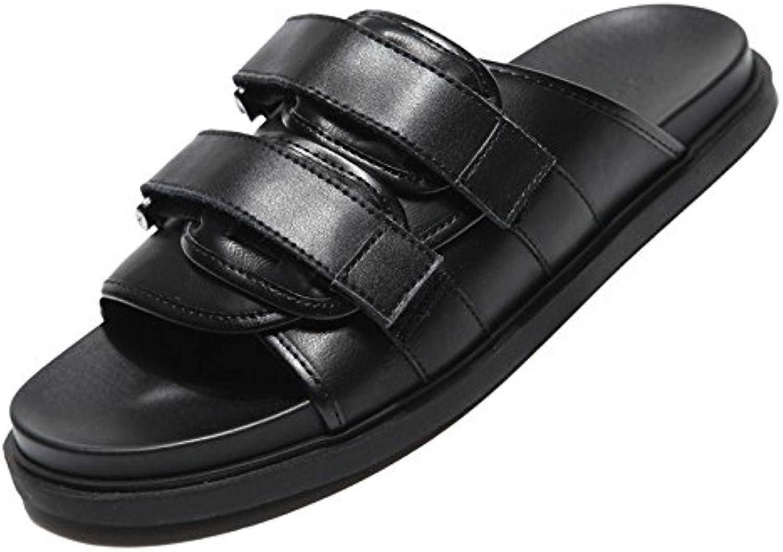 Herren Sandalen Halbschuhe Summer Wear Flip Flops Casual Beach Sandalen YellowBrown 5 Größen Black 41EU