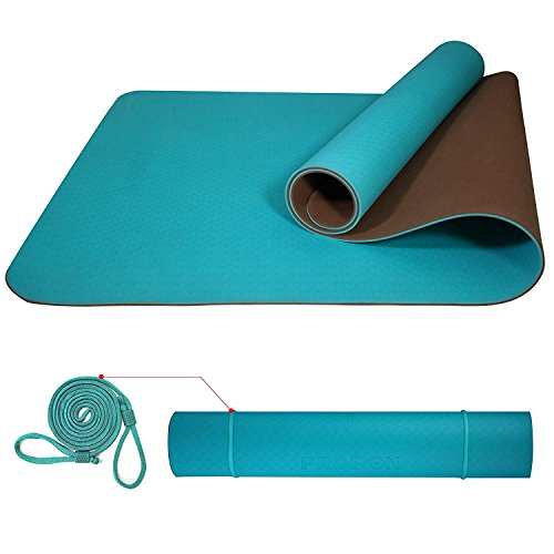 PROIRON Yogamatte Gymnastikmatte Sportmatte rutschfest Fitnessmatte,TPE Material, Pilatesmatte mit yogamatte tragegurt,183 x 66 x 0.6cm/183 x 80 x 0.6cm