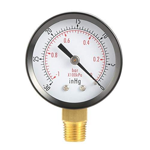 ghfcffdghrdshdfh Dry Utility Vacuum Pressure Gauge Blk Steel 1/4