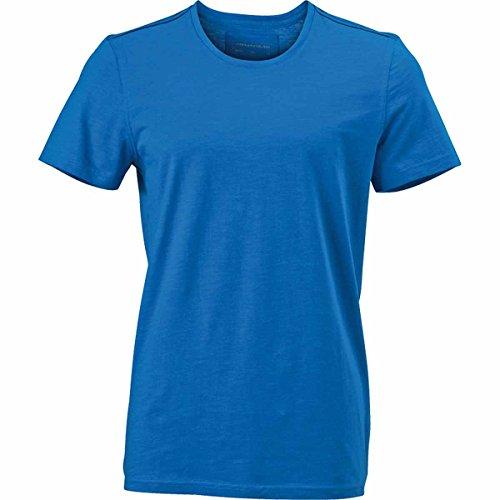 JAMES & NICHOLSON Herren T-Shirt, Einfarbig bleu azur