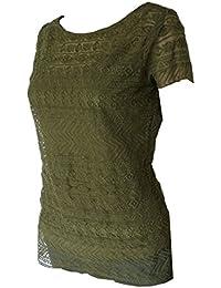 Ralph Lauren Jelissa Khaki Crew Neck strick-top/Blouse, Size L