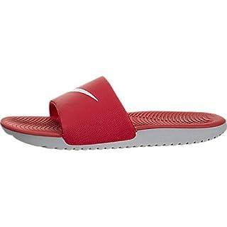 NIKE Men's Kawa Slide Low-Top Sneakers, Multicolour (University Red/White/Wolf Grey 001), 8 UK