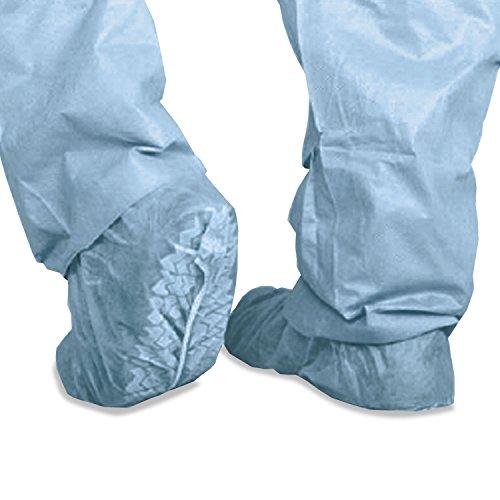 Housses à chaussures Polypropylène Antidérapant, grand, bleu, 100/Box