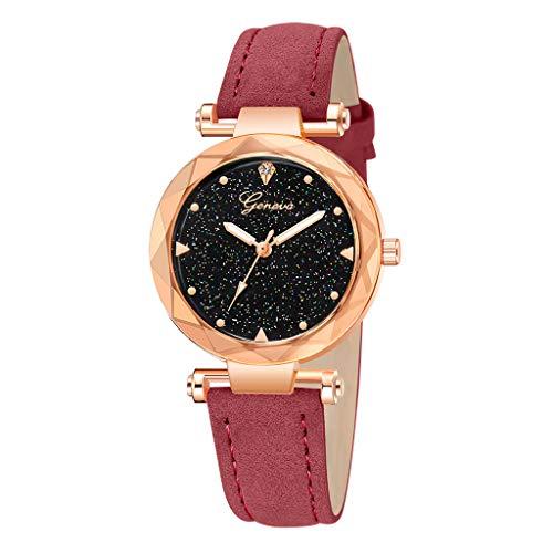 Montres-Bracelet à Quartz analogique en Cuir pour Femmes Intelligente Horloge Bracelet Femmes en Général