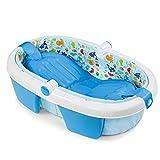 TYUIO Bañera Inflable para bebés Asiento Antideslizante Plegable para Viaje de Viaje Grande, fácil de Usar y de Limpieza