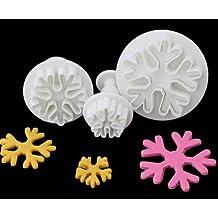 nicebuty copo de nieve émbolo molde Cake Decorating Herramienta Cake cortadores de galletas, fondant Sugarcraft