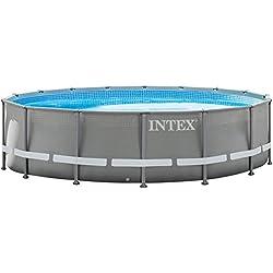 Intex 488x122 cm Schwimmbecken Swimming Pool Schwimmbad Ersatzpool Frame Metal 28907