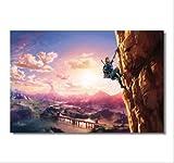 YKBSY Zelda Jeu Affiche Zelda légende Nature Papier Peint, décoration de Bureau Autocollant Chambre, Peinture sur Toile Personnalisable sans Cadre, 40-60cm
