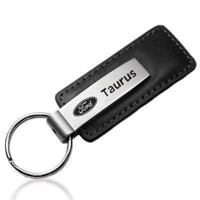 ford-taurus-black-leather-key-chain