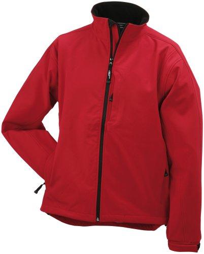 J&N - trendige Herren Softshell-Jacke (JN135) Rot