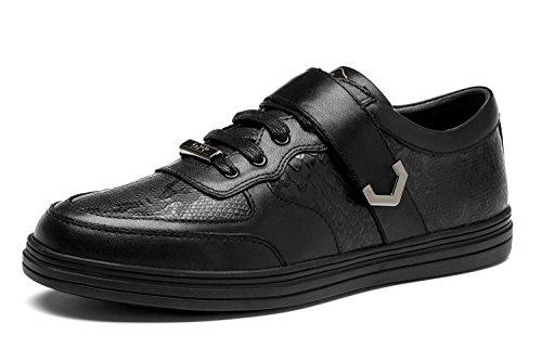 OPP Chaussure de Loisire A Lacets Homme Sneakers en Cuir Ornement de Zip