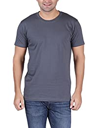 T-Shirt.ind.in Casual Mens Metalic Grey Round Neck T-Shirt