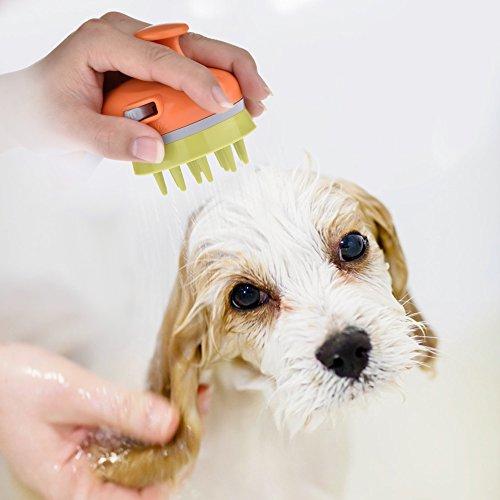 Pet Bath Massage Brush Washing Sprayer Massager Grooming Handheld