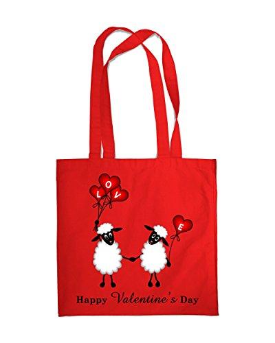 Einkaufstasche Eco Valentinstag Schaf Beach Schulter Handtasche Rot - Rot
