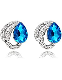 Sukkhi Cubic Zirconia Stud Earrings for Women (Silver)(E81145)