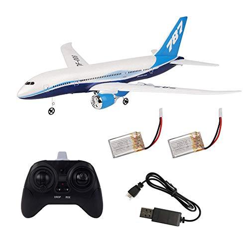 Morningtime DIY RC Drohne Foam Ferngesteuertes Flugzeug Spielzeug Boeing 787 Modell 2,4G 3CH Fernbedienung Hubschrauber Flugzeug Segelflugzeug Flugzeug EPP Schaum Außenflugzeug