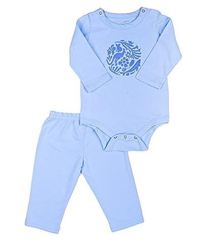 Oceankids Baby Mädchen 'Blau Jumpsuit Neugeborenen Kleinkind Spielanzug Langarm 3M