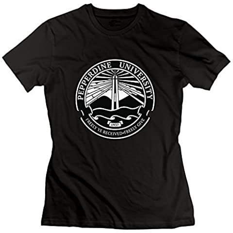 Women's Pepperdine University Seal T-Shirt Black