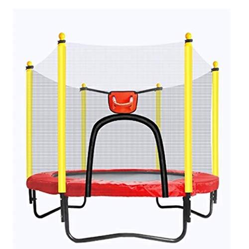 YGUOZ Trampolin für Kinder, Indoor Outdoor Jumper, Trampolin Set mit Sicherheitsnetz, Sprungmatte, Hochfeste Federn und U-förmigem Stahlrahmen,Red_59in