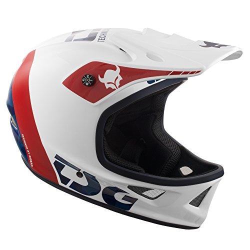 TSG Erwachsene Squad Graphic Design Helm, Trap White, L (Full Face Mountain Bike Helm)