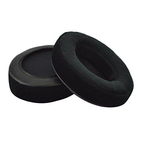Meijunter Ersatz Ohrpolster Kissen Earpads Cushions Ear Pads 1 Pair für Audio-Technica ATH-M50 M50S M50X M30 M40 ATH-SX1, Schwarz Samt