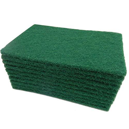 Bobopai 20Pcs Durable Heavy Duty Scour Pad General Purpose Scrub Sponge Scouring Pad Non-Scratch Pot Scrubber Pads Cleaning Sponge 15x10x0.6cm (Rose Tops Scrub)