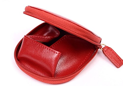 Holster Skin with Zipper Wallet Case, Red Color, Size